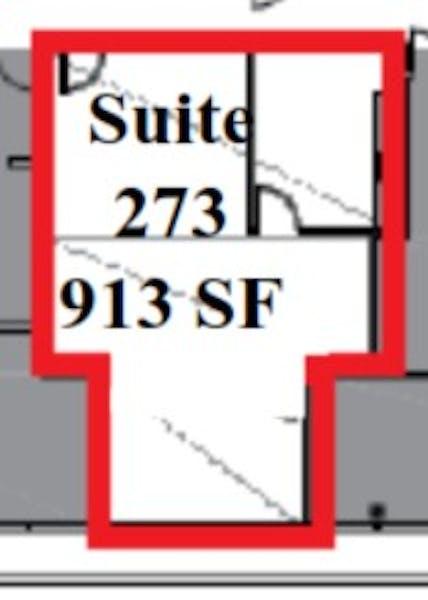 Suite 273 / 913 SF/ $1,522 + Expenses
