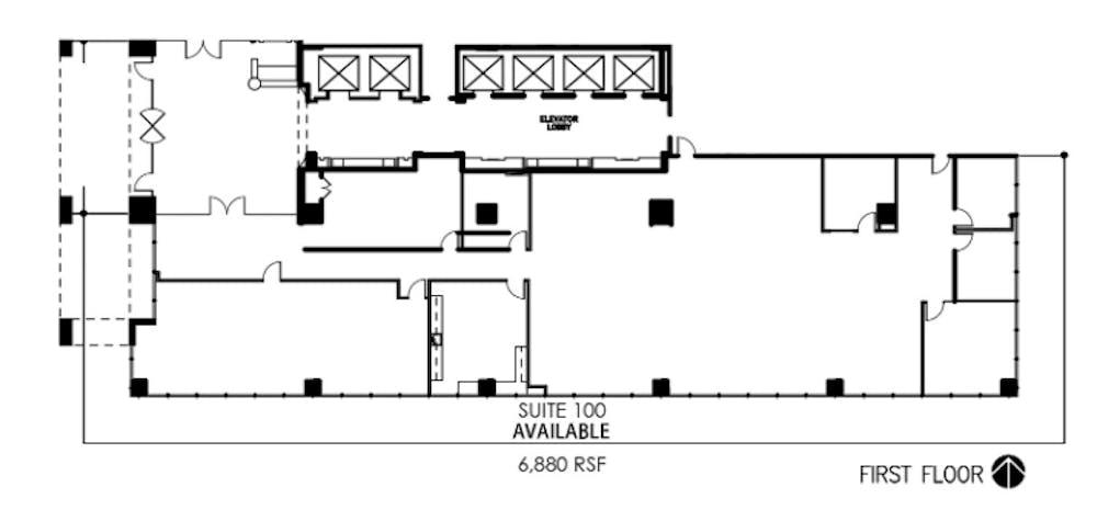 Suite 100 / 6,880 SF/ $15,480 + Electricity