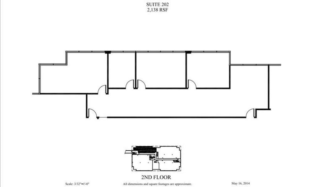 Suite 202 / 2,138 SF/ $2,762 + Electricity