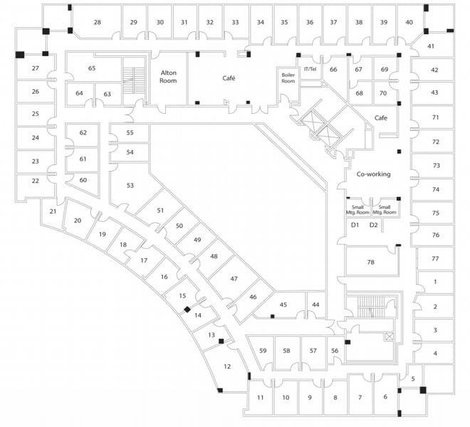 Suite Interior Office / 100 SF/ $800