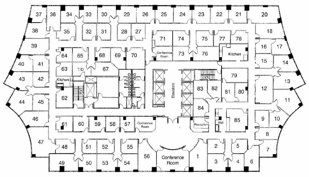 Suite Interior Office / 220 SF/ $1,423