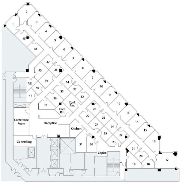 Suite Interior Office / 200 SF/ $1,400