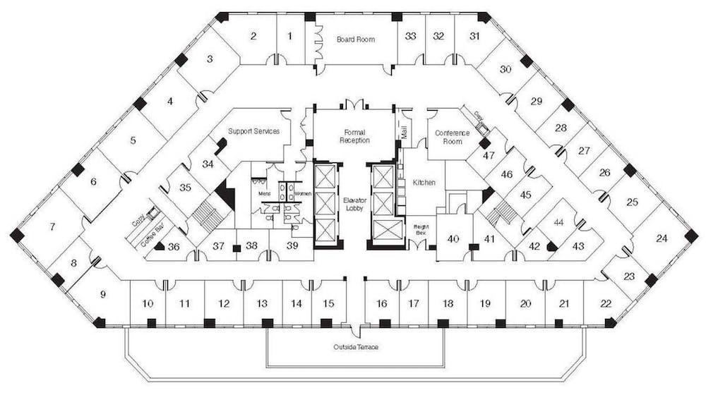 Suite Interior Office / 130 SF/ $1,056