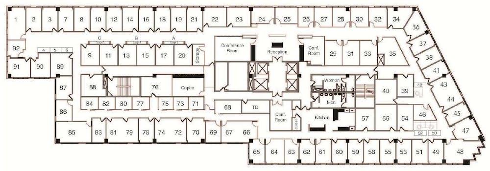 Suite Interior Office / 200 SF/ $1,960