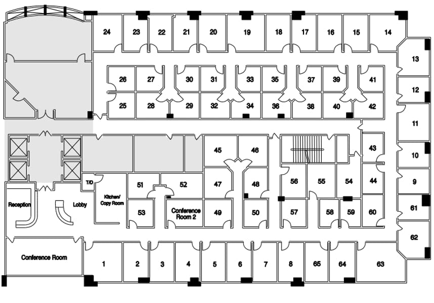 Suite Interior Office / 150 SF/ $988
