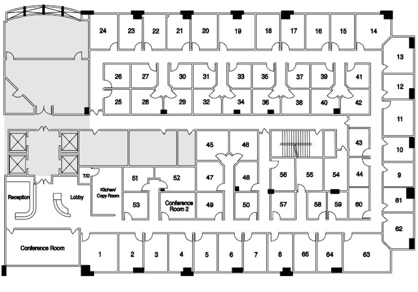 Suite Interior Office / 100 SF/ $637