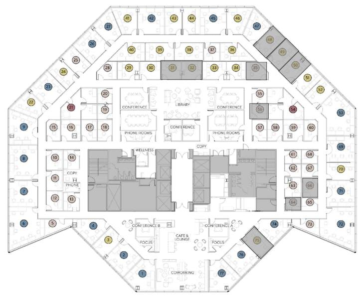 Suite Medium Office (3-4) / 150 SF/ $1,314
