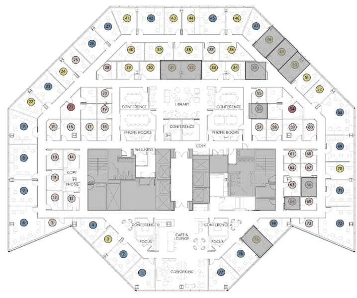 Suite Large Office (5-8) / 300 SF/ $2,750