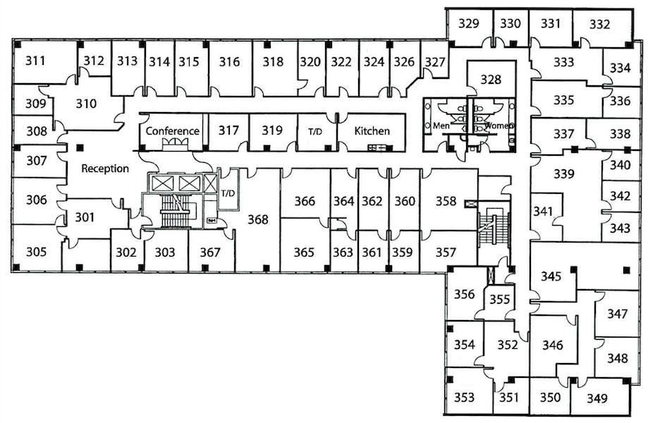 Suite Window Office / 215 SF/ $1,134