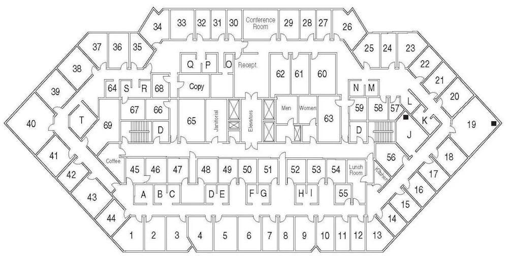 Suite Interior Office / 100 SF/ $600