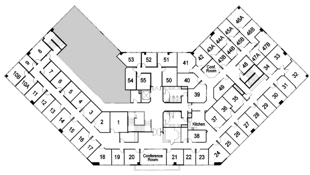 Suite Interior Office / 180 SF/ $1,267