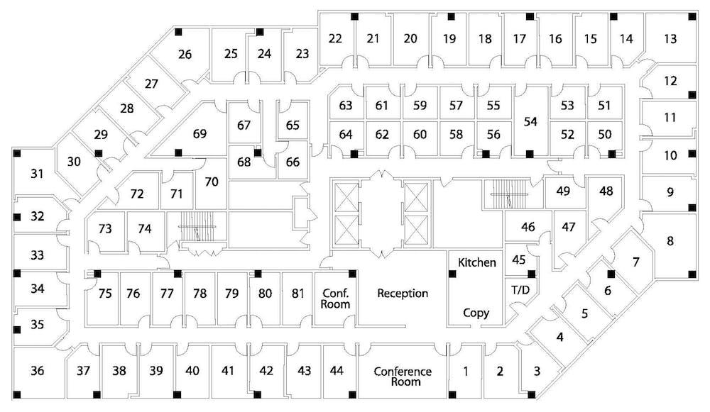Suite Interior Office / 155 SF/ $1,092