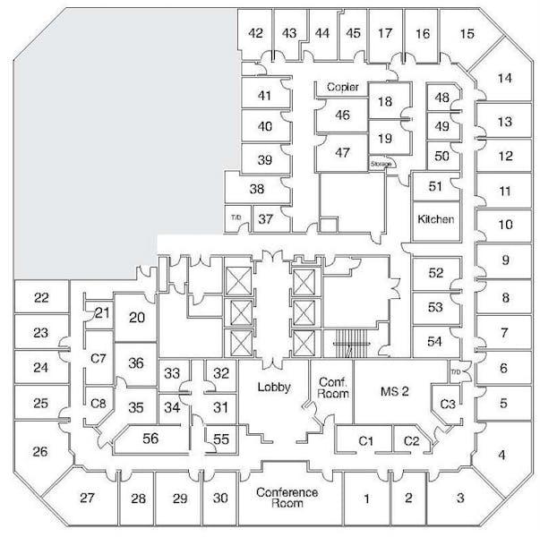 Suite Window Office / 180 SF/ $1,710