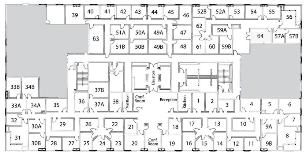 Suite Interior Office / 155 SF/ $1,240