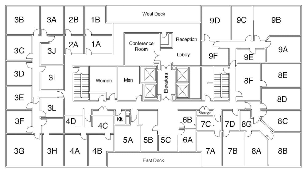 Suite Interior Office / 180 SF/ $1,440
