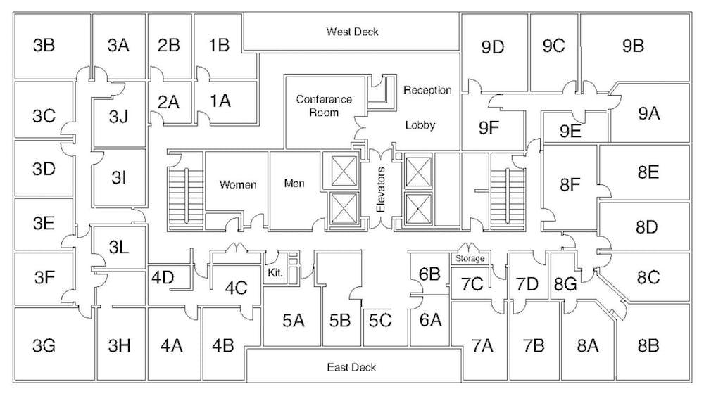 Suite Interior Office / 400 SF/ $2,400