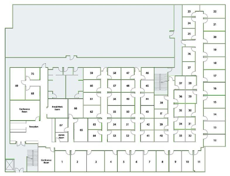 Suite Interior Office / 95 SF/ $768