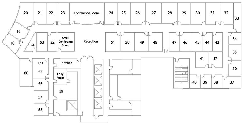 Suite Interior Office / 155 SF/ $1,317