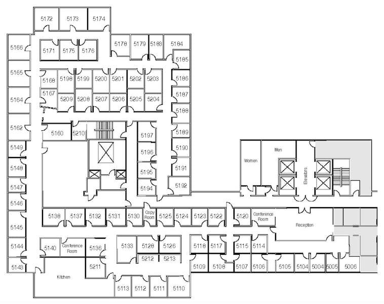 Suite Interior Office / 140 SF/ $1,104