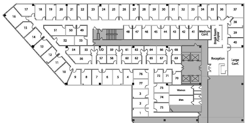 Suite Interior Office / 95 SF/ $783