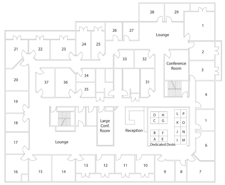 Suite Window Office / 225 SF/ $2,250