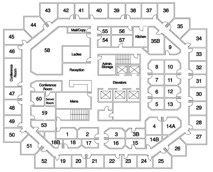 Suite Interior Office / 140 SF/ $1,120