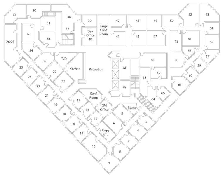 Suite Interior Office / 280 SF/ $1,680