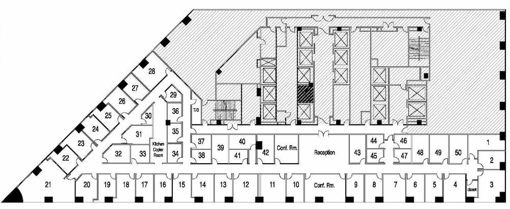 Suite Window Office / 160 SF/ $1,600