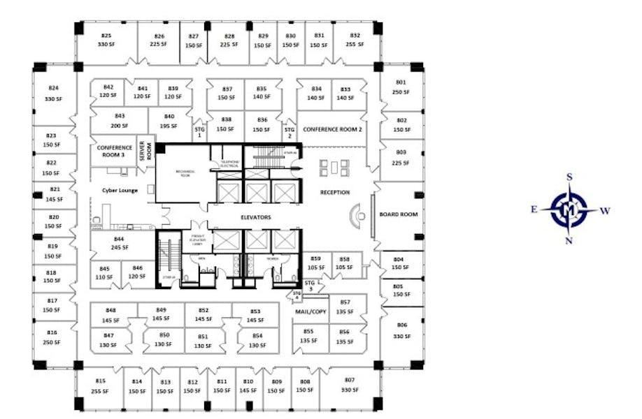Suite ExecutiveSuite Interior 5 desks / 500 SF/ $1,508