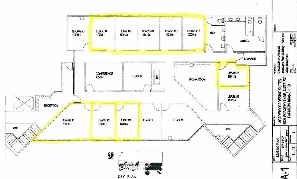 Suite 230-A / 150 SF/ $1,000
