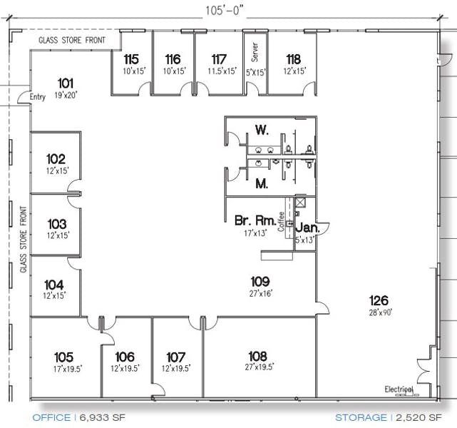 Suite 100 / 9,453 SF/ $13,518