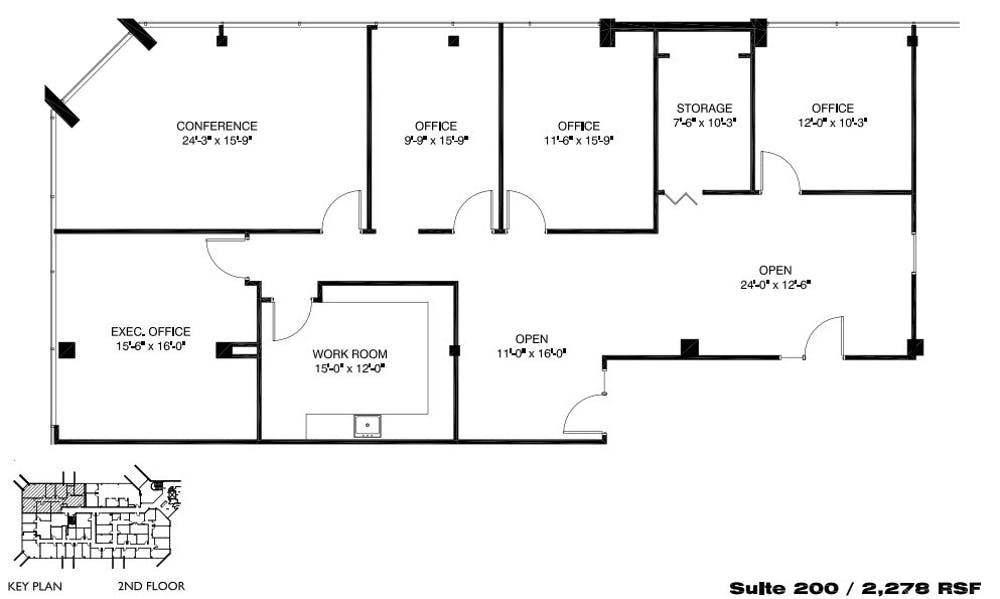 Suite 200 / 2,278 SF/ $2,468 + Electricity