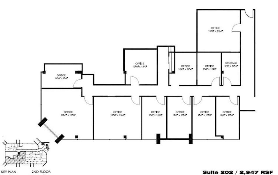 Suite 202 / 2,947 SF/ $3,193 + Electricity