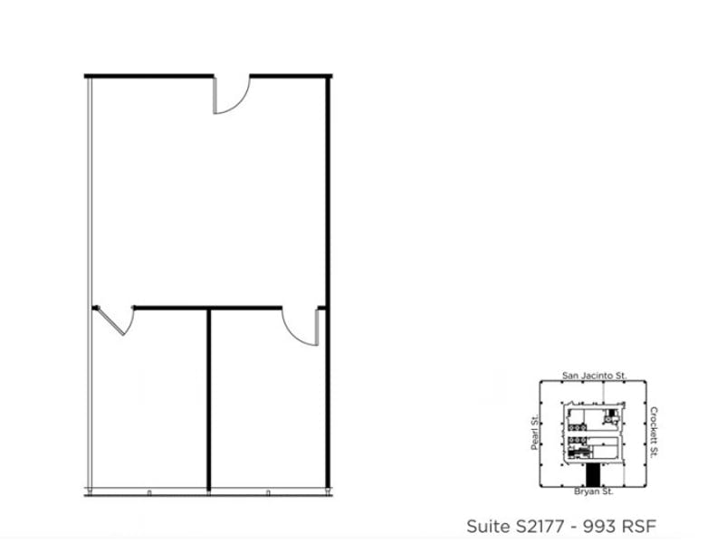 Suite S2177 / 993 SF/ $2,152 + Electricity