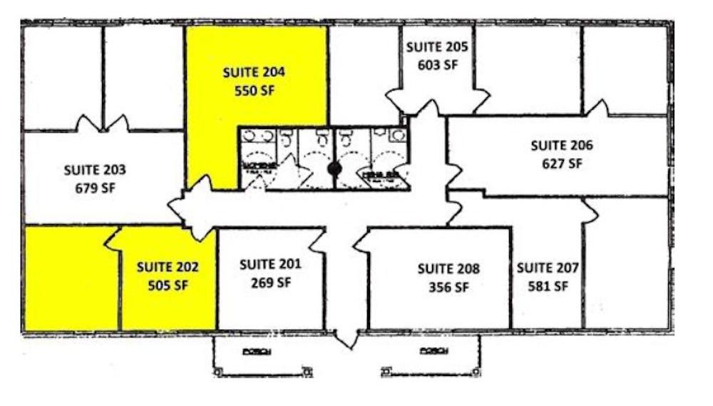 Suite 204 / 550 SF/ $1,135
