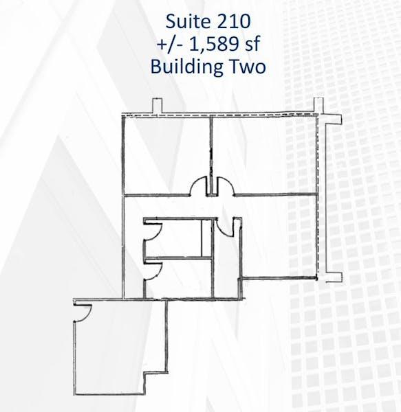 Suite 210 / 1,589 SF/ $1,986 + Electricity