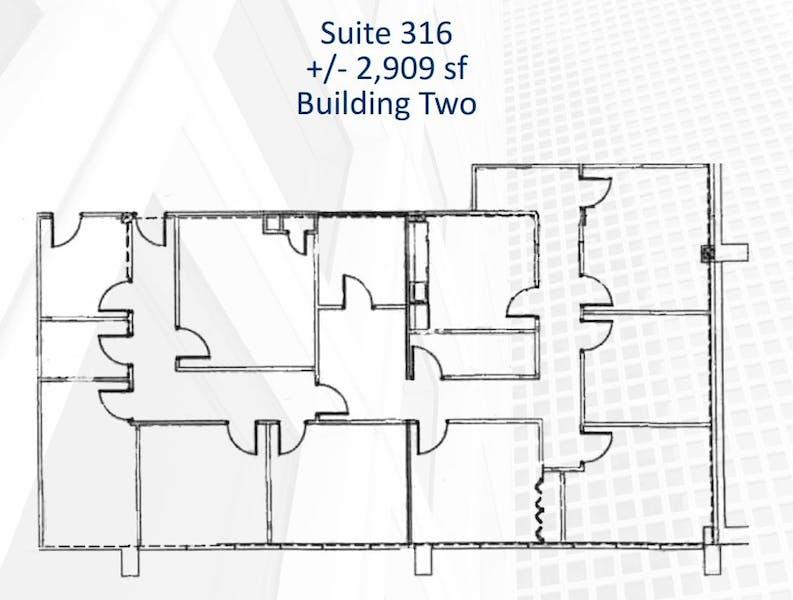 Suite 316 / 2,909 SF/ $4,000 + Electricity