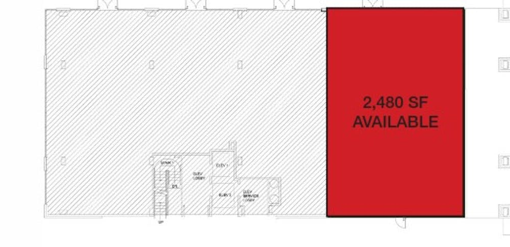Suite Former State Farm  / 2,480 SF/ $5,167