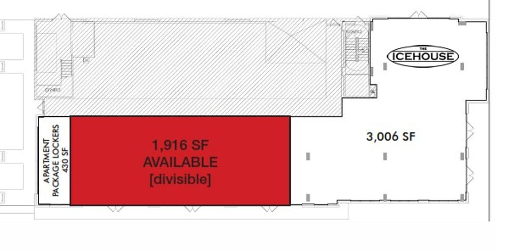 Suite Former office space  / 1,916 SF/ $3,992