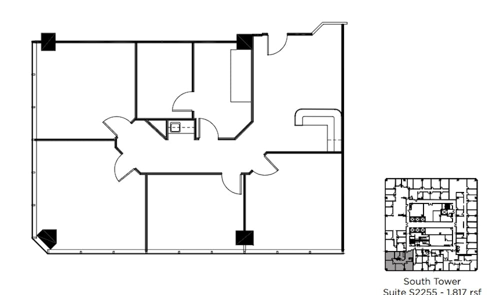 Suite S2255 / 1,817 SF/ $3,937 + Electricity