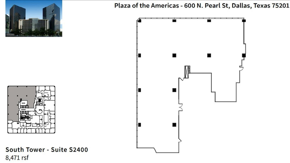 Suite S2400 divisible / 8,471 SF/ $18,354 + Electricity