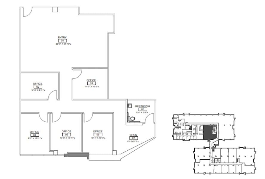 Suite 200 / 8,423 SF/ $12,635 + Electricity