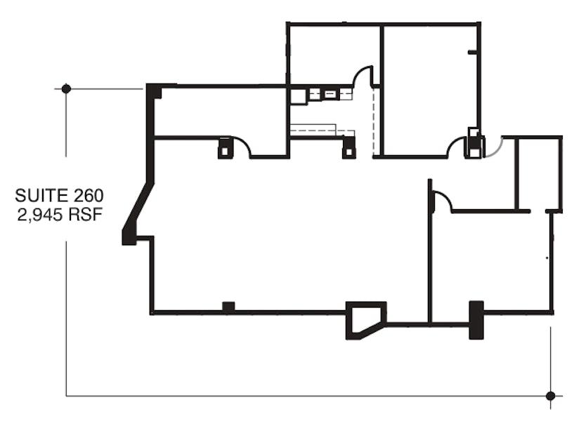 Suite 260 / 2,945 SF/ $4,418 + Electricity