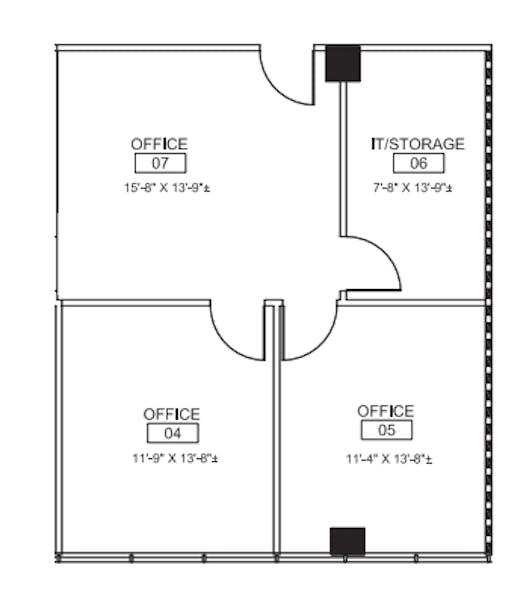 Suite 274 / 765 SF/ $1,148 + Electricity