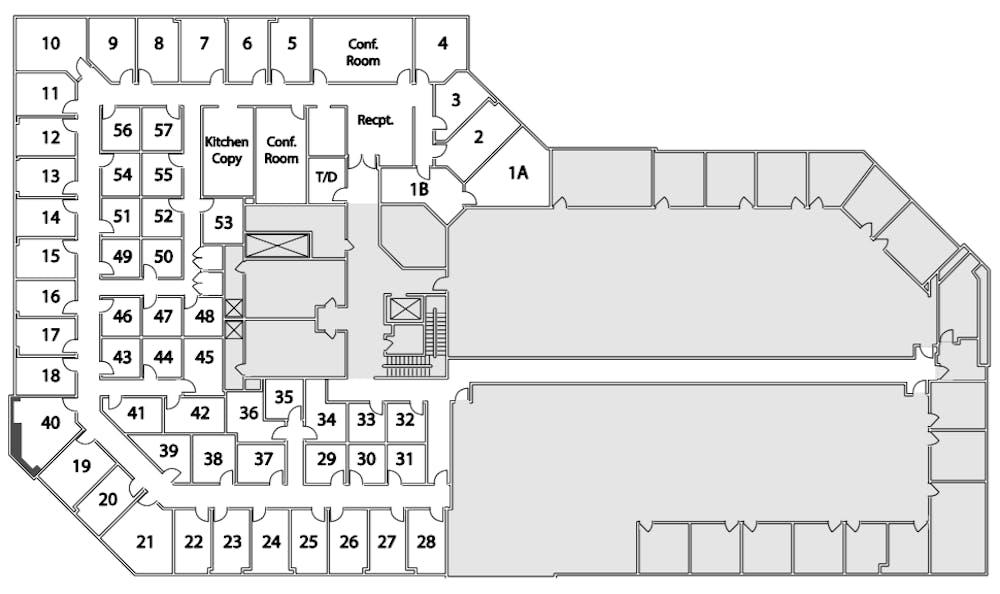 Suite Window Office / 215 SF/ $1,757