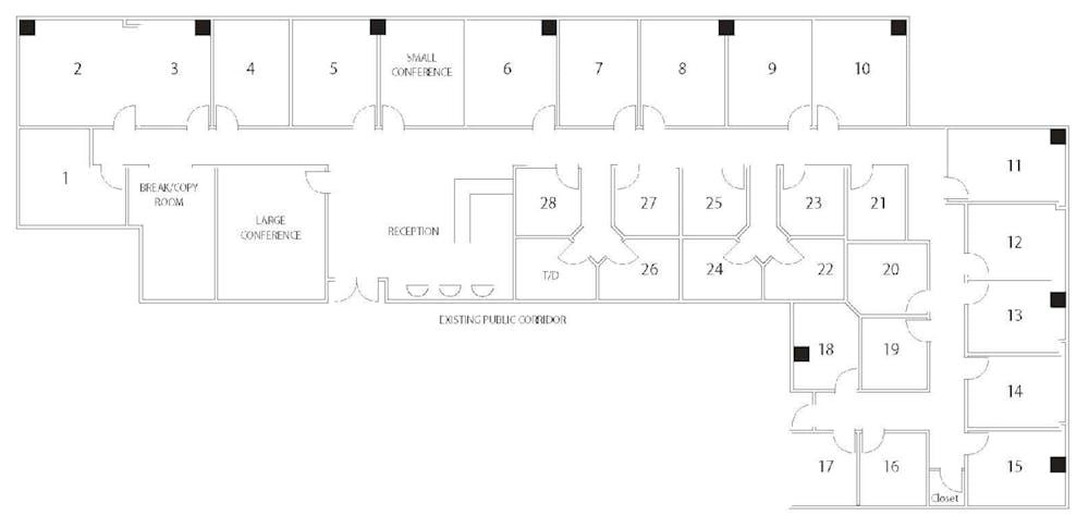 Suite Interior Office / 120 SF/ $960