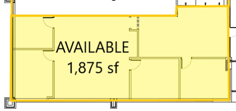 Suite 1 / 1,875 SF/ $3,516