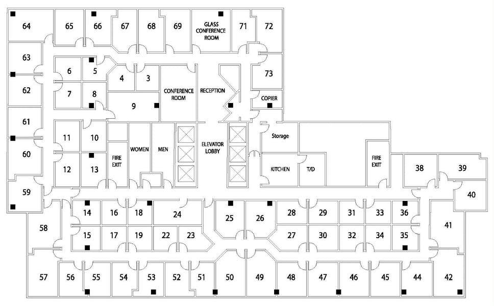 Suite Interior Office / 230 SF/ $1,508