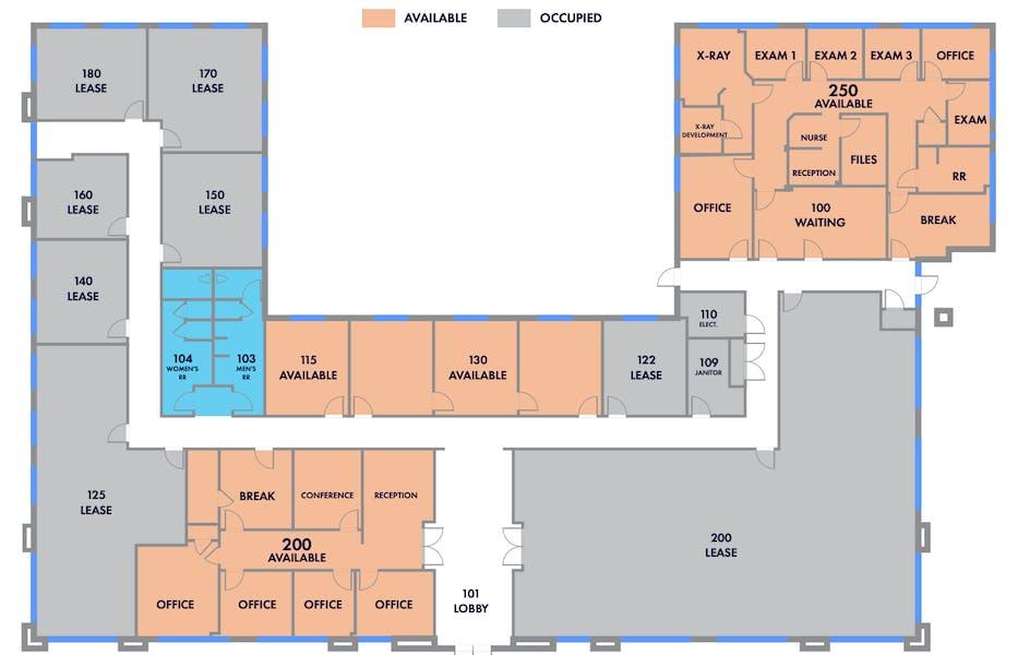 Suite 250 2nd Gen Medical / 2,368 SF/ $3,552 + Expenses