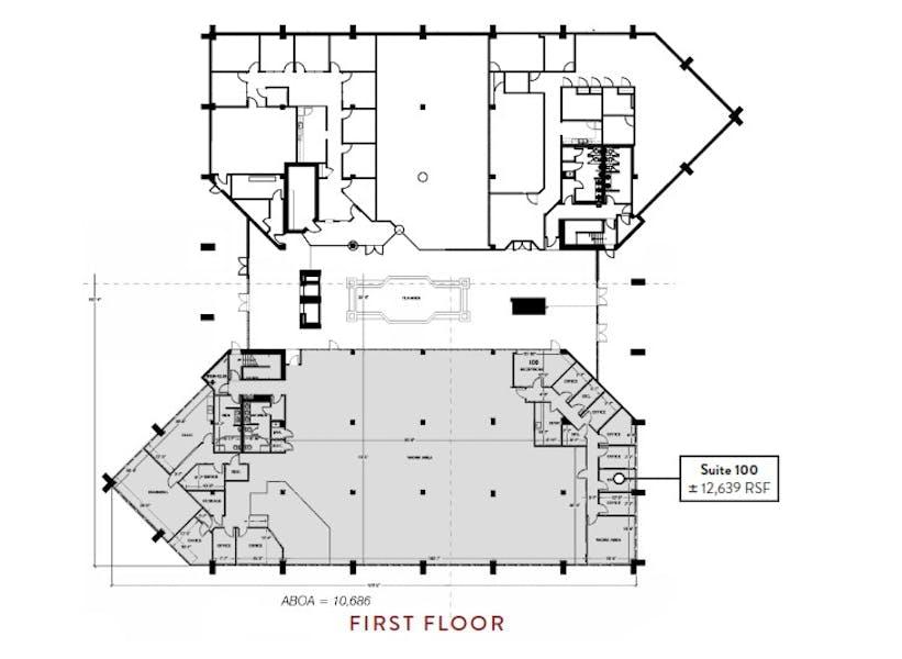 Suite 100 / 12,639 SF/ $17,379